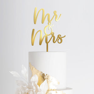 Mr & Mrs Wedding Cake Topper 2 Art Print - VIVIDEDITIONS
