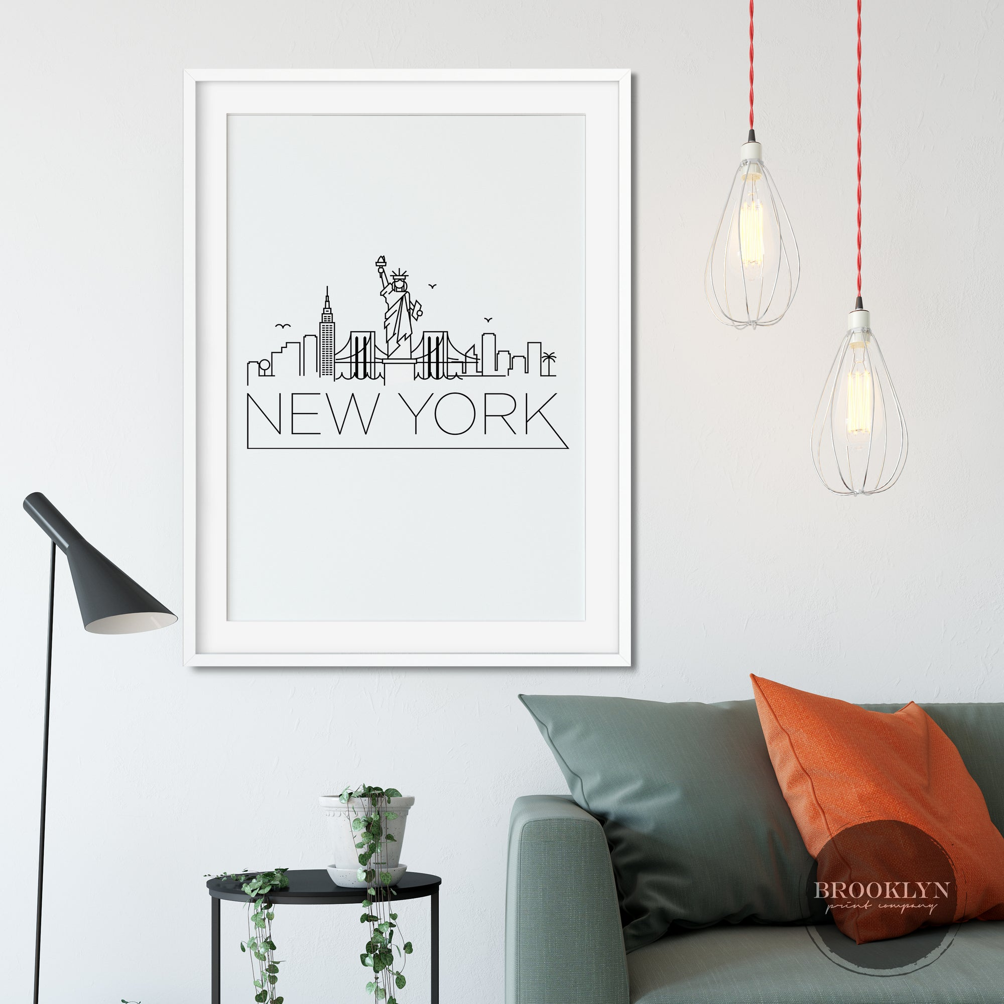 New York City Skyline City Art Travel Poster Art Print - VIVIDEDITIONS