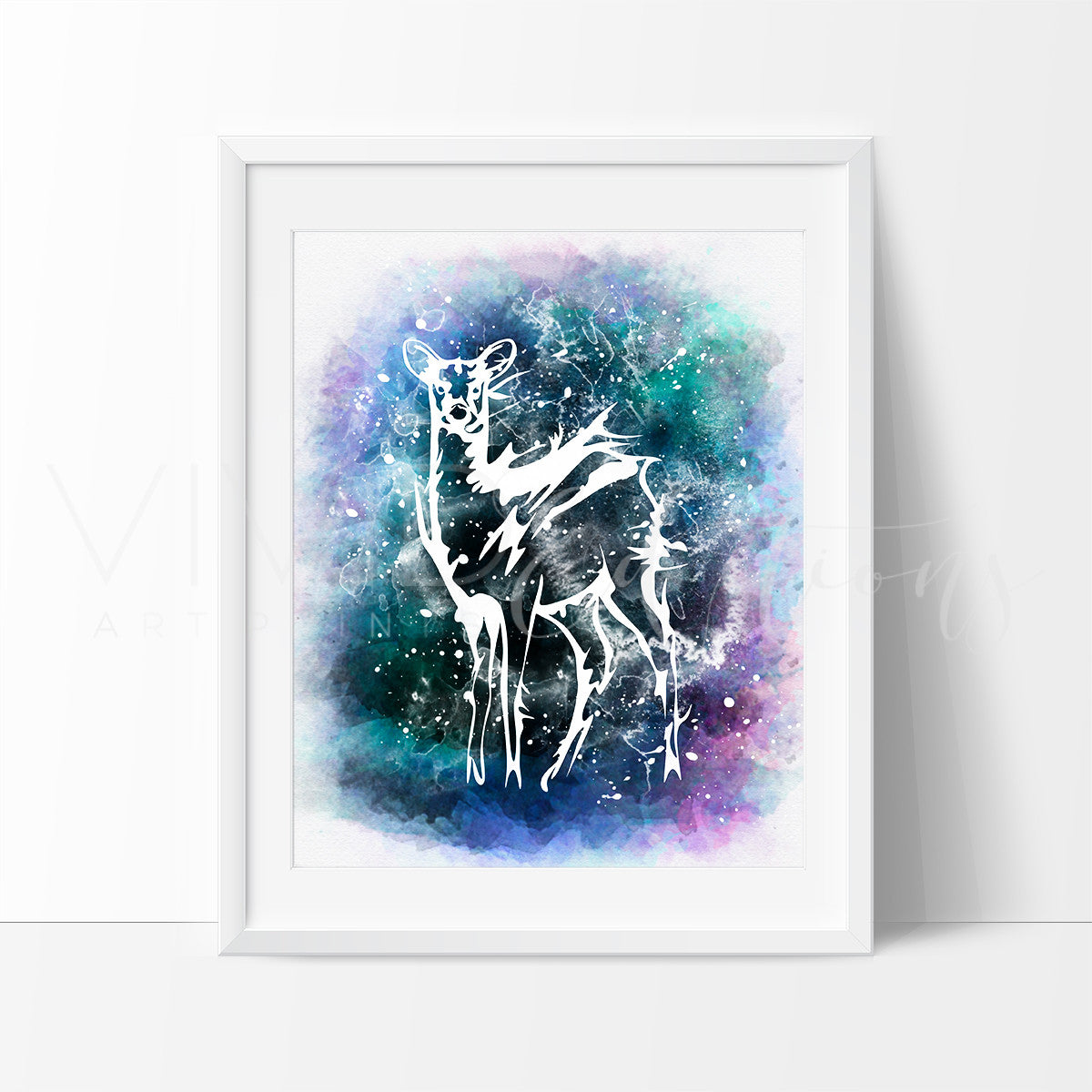 Patronus doe Severus, Snape + Lily Potter Watercolor Art Print Art Print - VIVIDEDITIONS