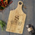 Personalized Engraved Paddle Cutting Board, Bamboo - CB09 Art Print - VIVIDEDITIONS