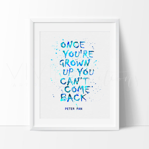 Peter Pan Quote Art Print - VIVIDEDITIONS