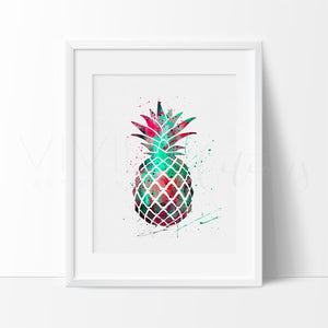 Pineapple Fruit Watercolor Nursery Art Print Wall Decor