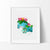Bulbasaur, Ivysaur & Venusaur, Pokemon Evolution Watercolor Art Print Art Print - VIVIDEDITIONS