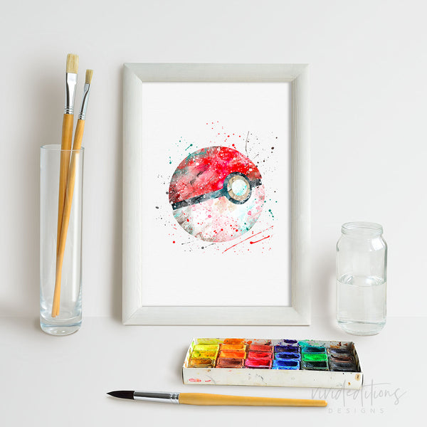 Pokemon Pokeball Art Print