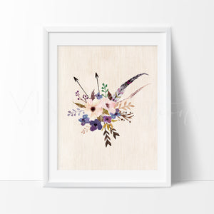 Boho Floral Posy 5 Art Print - VIVIDEDITIONS
