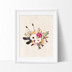 Boho Floral Posy 7 Art Print - VIVIDEDITIONS