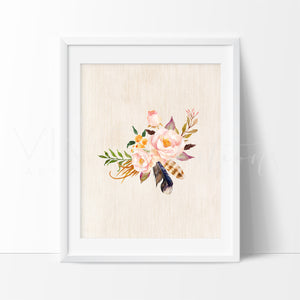 Boho Floral Posy 11 Art Print - VIVIDEDITIONS
