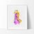Tangled Rapunzel 3 Watercolor Art Print Art Print - VIVIDEDITIONS
