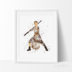 Rey Star Wars Art Print Poster