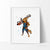 Guardians of the Galaxy Rocket Raccoon Watercolor Art Print Art Print - VIVIDEDITIONS