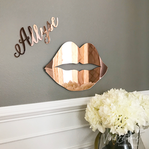 Rose Gold Mirror Lips Art Print - VIVIDEDITIONS