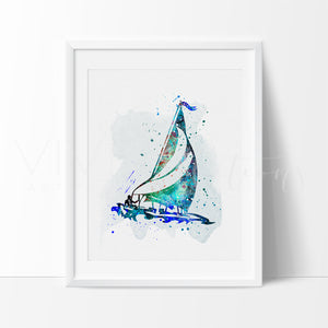 Sailboat 2 Art Print - VIVIDEDITIONS