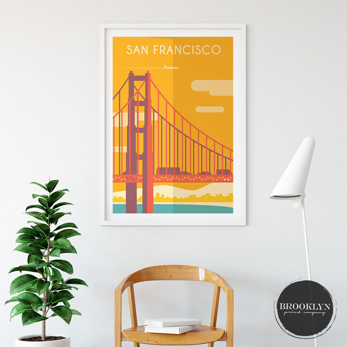 San Francisco Skyline City Art Travel Poster Art Print - VIVIDEDITIONS