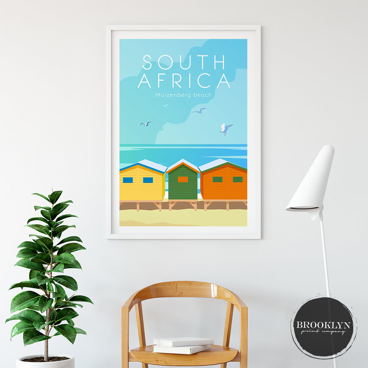 South Africa Skyline City Art Travel Poster Art Print - VIVIDEDITIONS