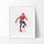 Spiderman 2 Watercolor Art Print Art Print - VIVIDEDITIONS