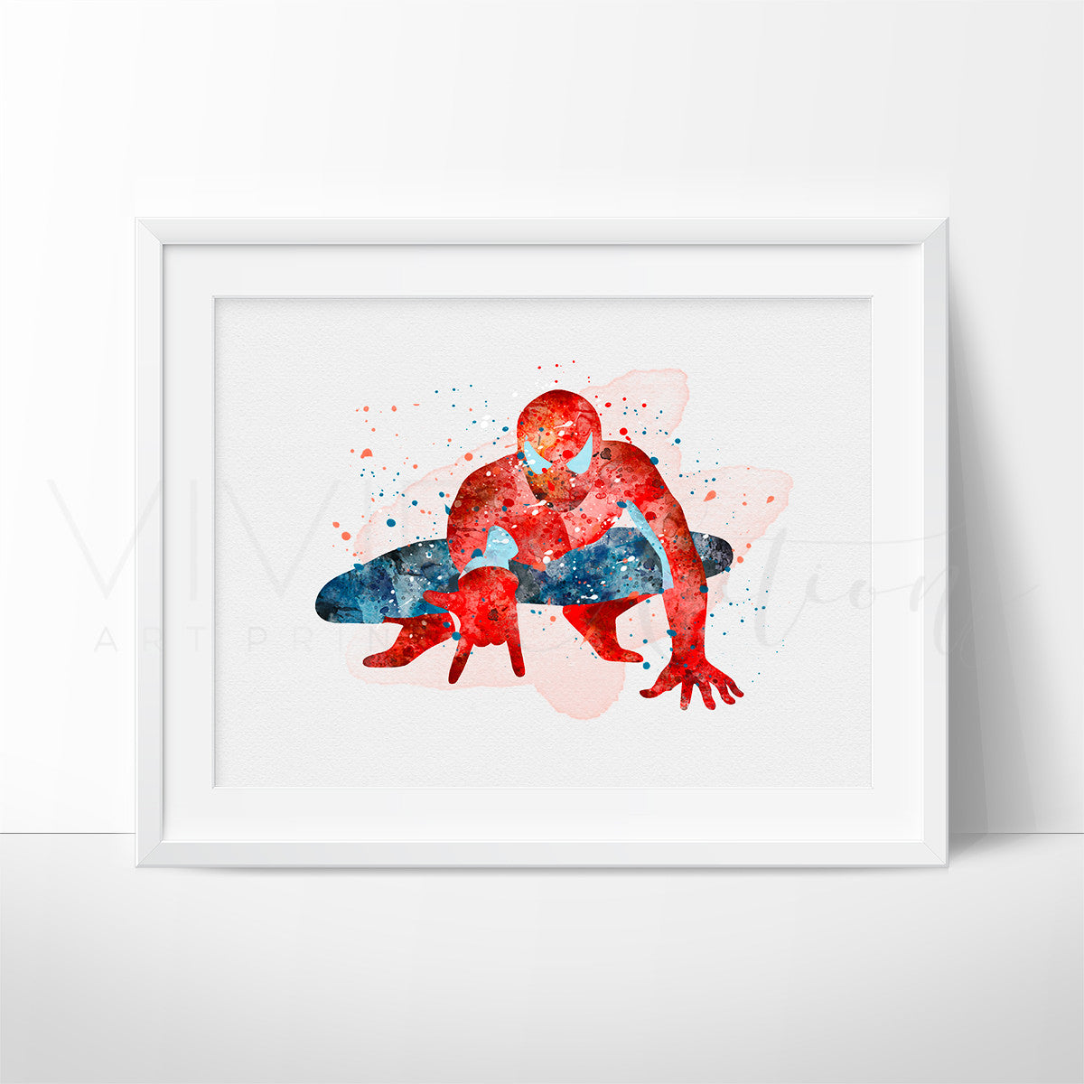 Spiderman Watercolor Art Print Art Print - VIVIDEDITIONS