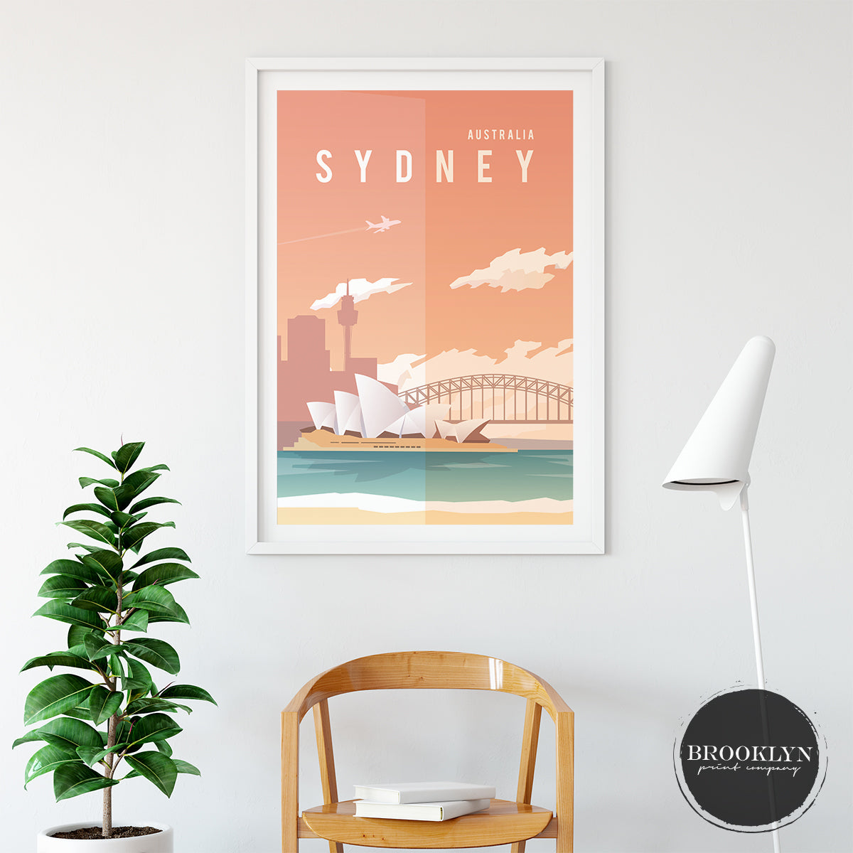 Sydney Skyline City Travel Poster Art Print - VIVIDEDITIONS