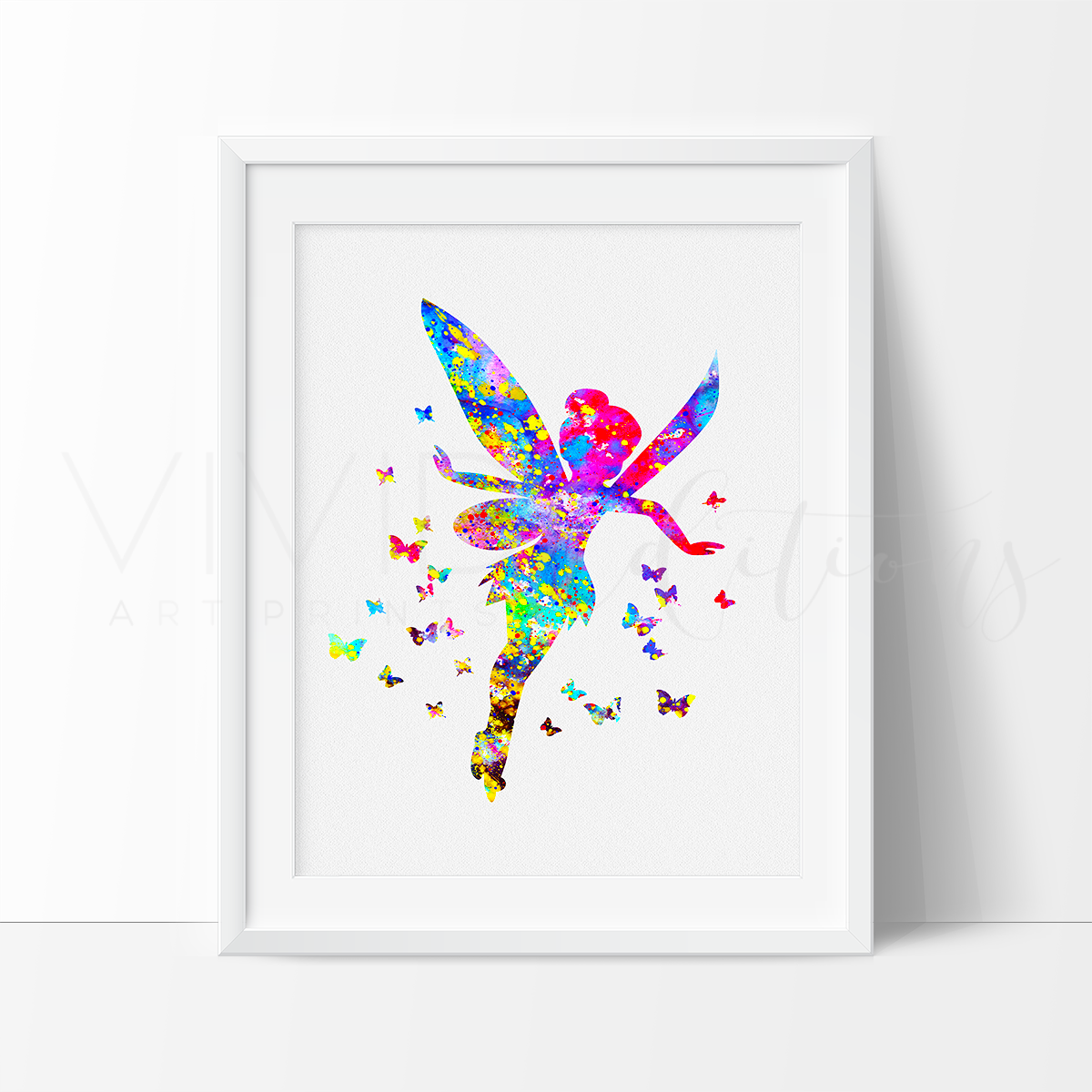 Tinker Bell 3 Watercolor Art Print Art Print - VIVIDEDITIONS
