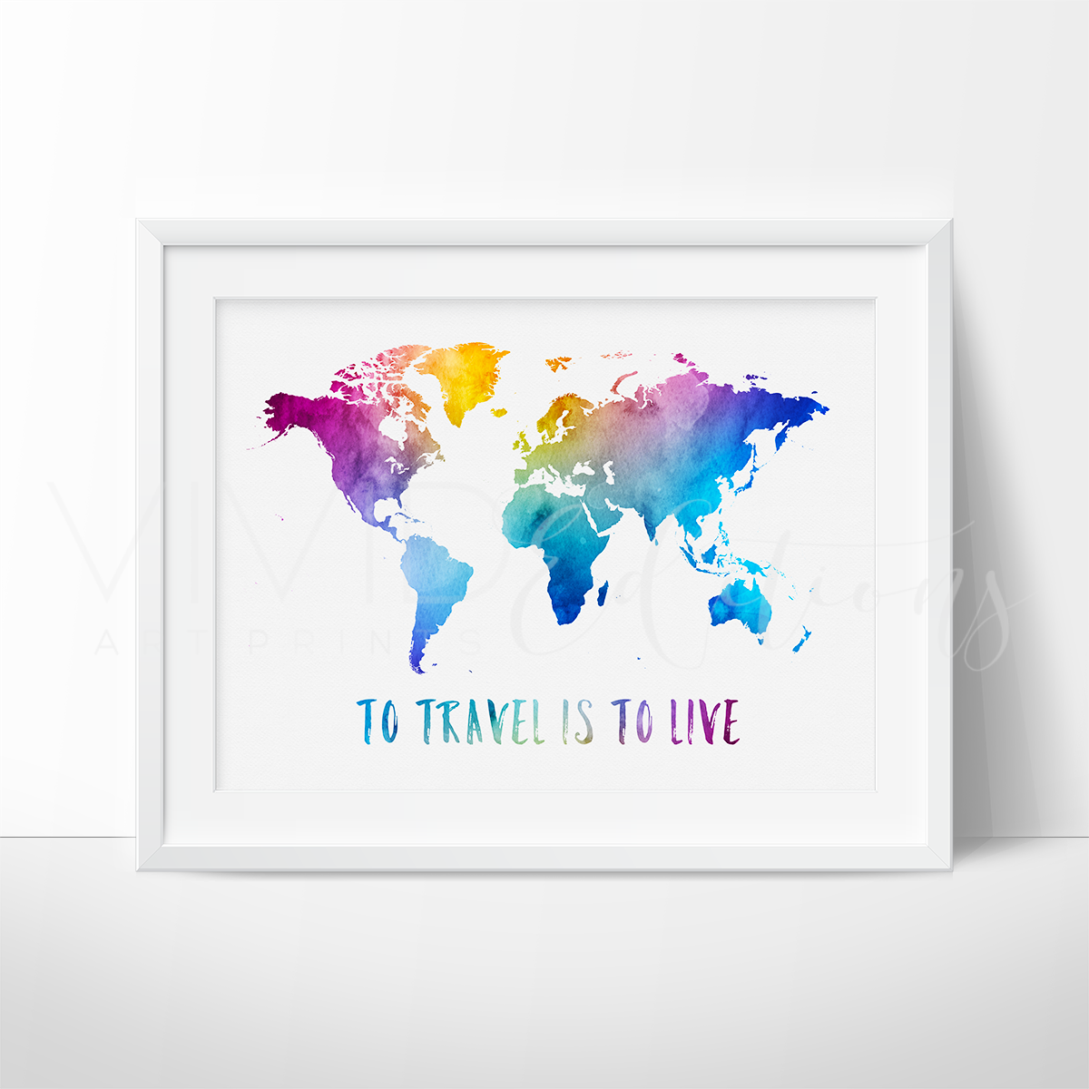 To travel is to live travel quote world map nursery wall art to travel is to live travel quote world map watercolor art print gumiabroncs Image collections