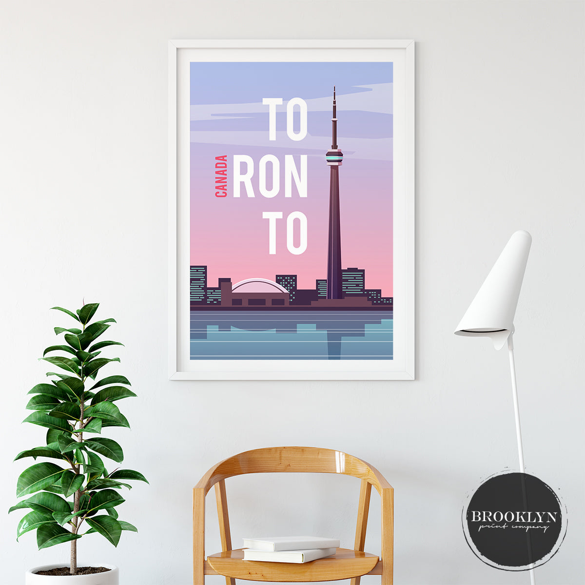Toronto Skyline City Art Travel Poster Art Print - VIVIDEDITIONS
