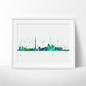 Toronto, Canada Skyline Watercolor Art Print Art Print - VIVIDEDITIONS