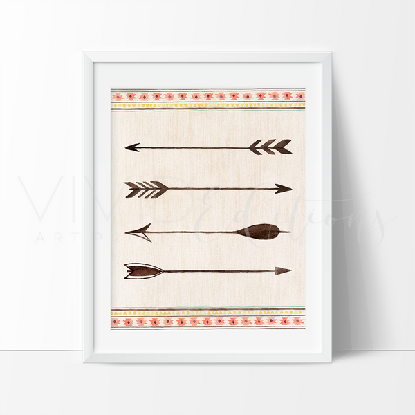 Tribal Arrows Art Print - VIVIDEDITIONS