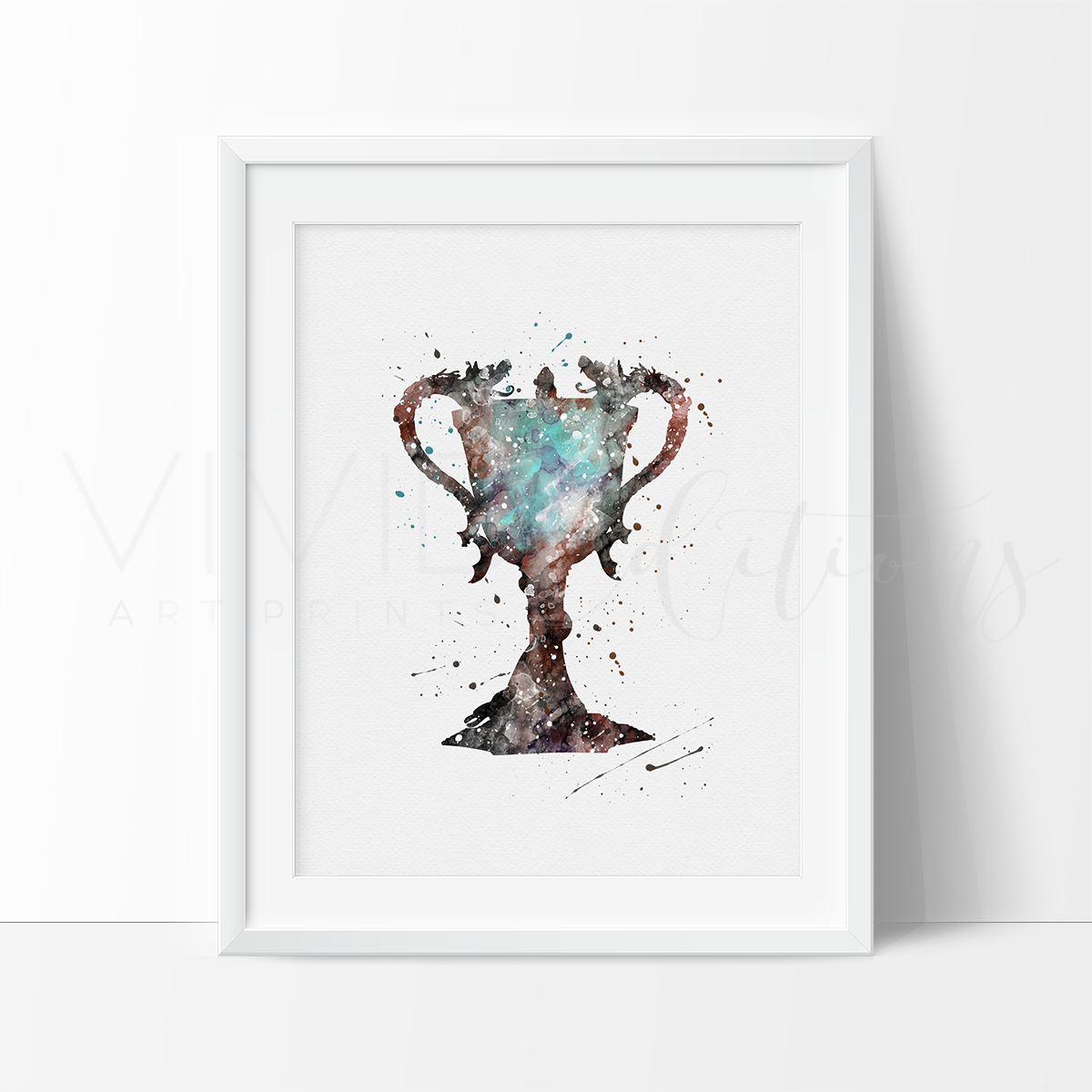 Triwizard Cup, Harry Potter Watercolor Art Print Art Print - VIVIDEDITIONS