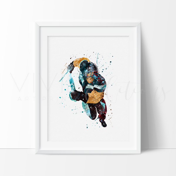 War Path X-men Watercolor Art Print Art Print - VIVIDEDITIONS