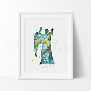 Weeping Angel Watercolor Art Print Art Print - VIVIDEDITIONS