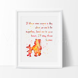 Winnie the Pooh Quote Watercolor Art Print Art Print - VIVIDEDITIONS