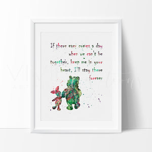Winnie The Pooh Quote Boy or Girl Nursery Art Print Wall Decor