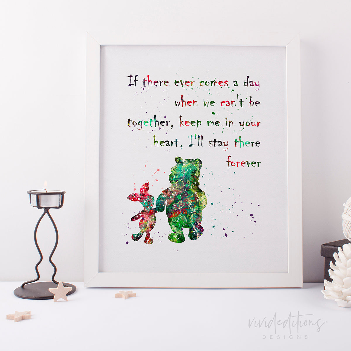 Winnie the Pooh Quote 2 Watercolor Art Print Art Print - VIVIDEDITIONS