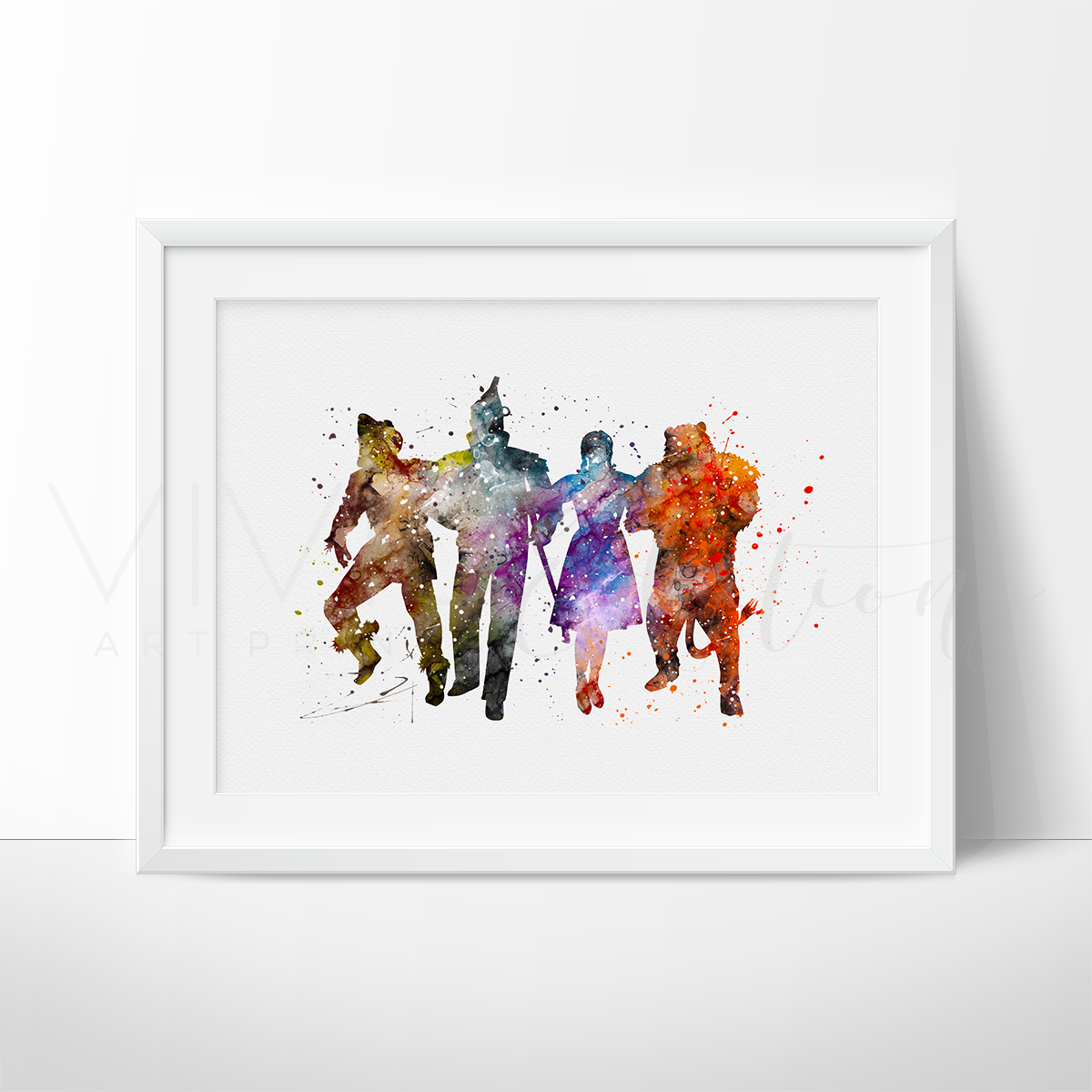 Wizard of Oz Watercolor Art Print Art Print - VIVIDEDITIONS