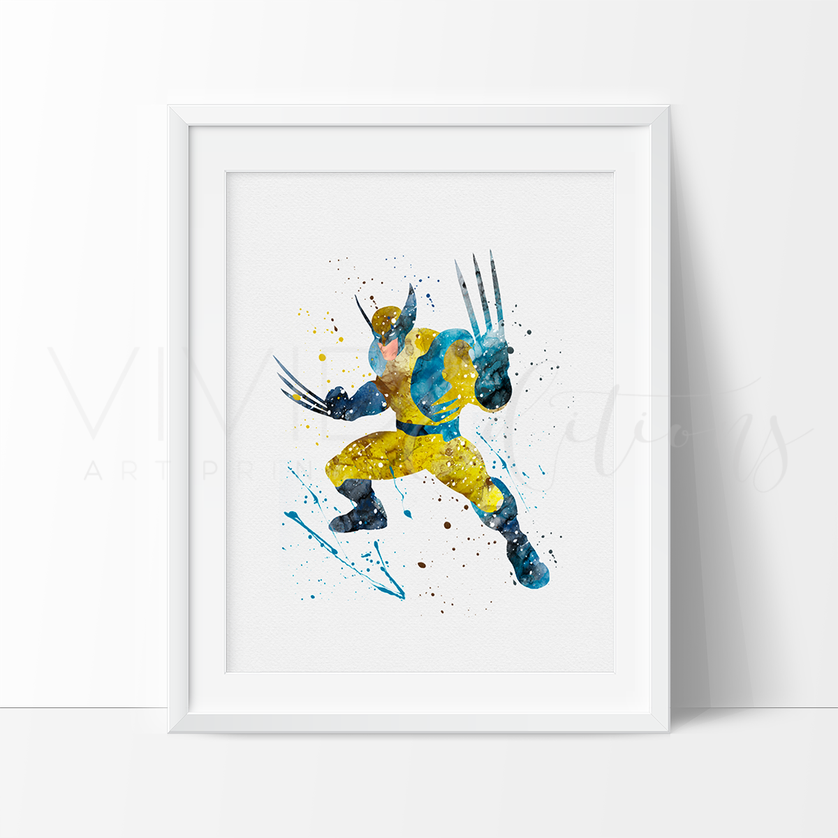 Wolverine Watercolor Art Print Art Print - VIVIDEDITIONS
