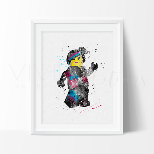 Wyldstyle Lego Watercolor Art Print Art Print - VIVIDEDITIONS