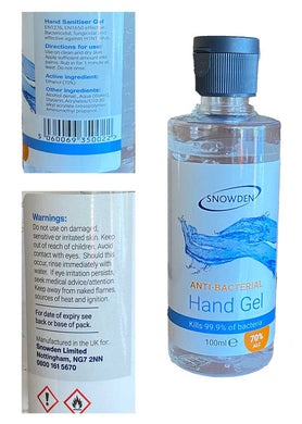 70% Alcohol Hand Sanitiser Gel 100 ml- 1 bottle