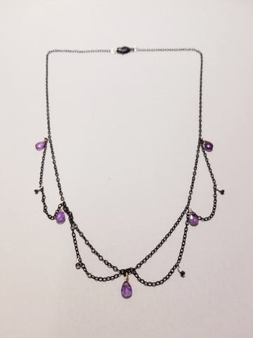 Dark Amethyst Necklace