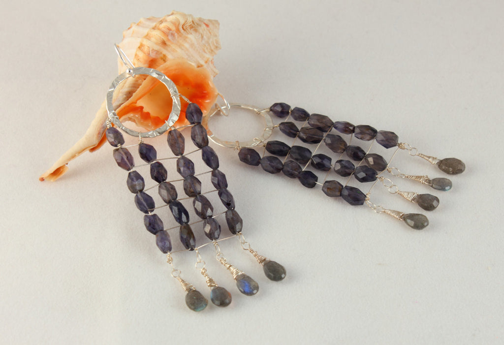 Iolite Earrings