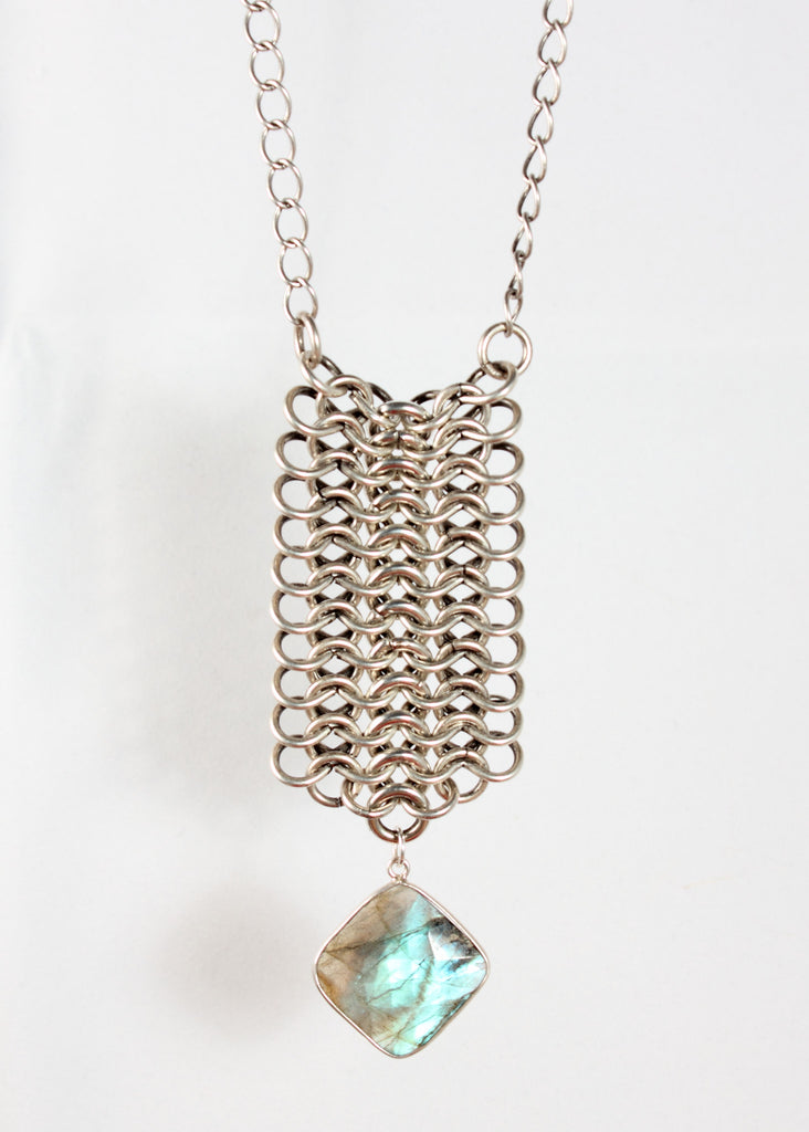 Chainmail Silver Necklace