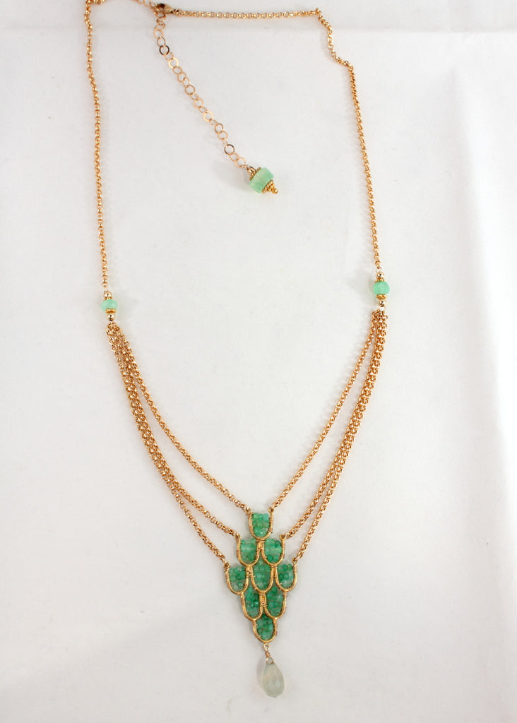 Chrysoprase Elegant Necklace