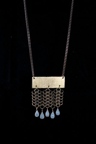Chainmail Brass Necklace