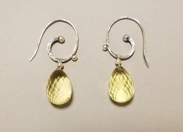 Yellow Topaz Earrings