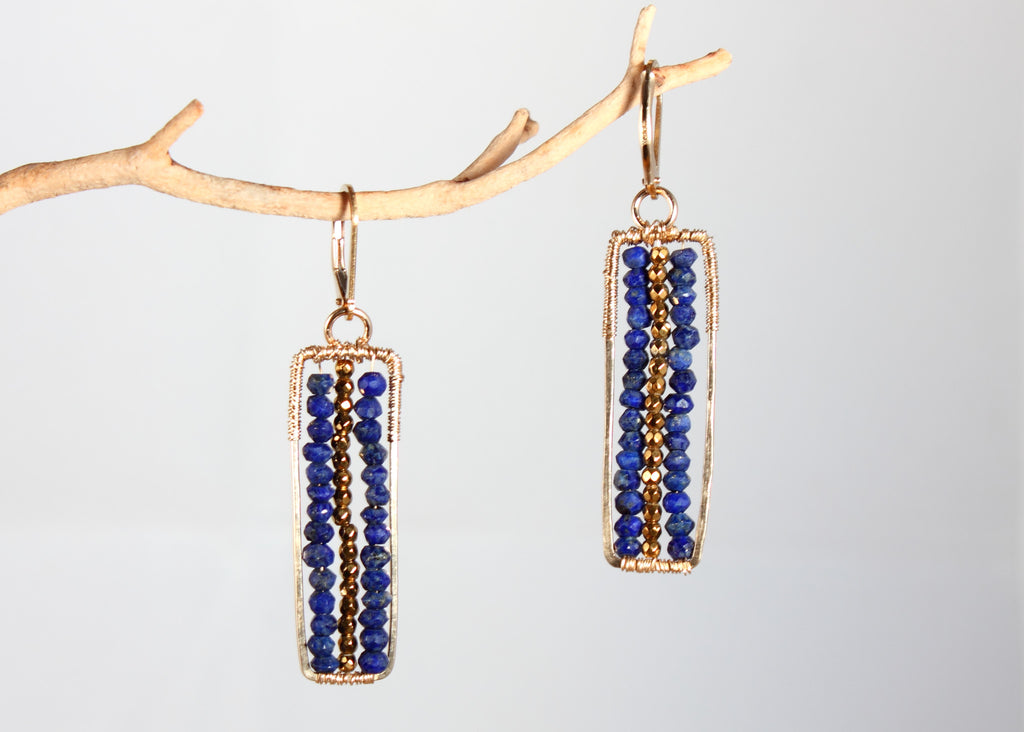 Playful Lapis Earrings