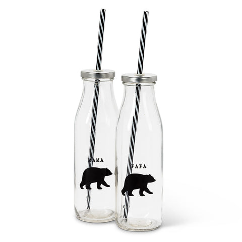 bear set of 2 bottles