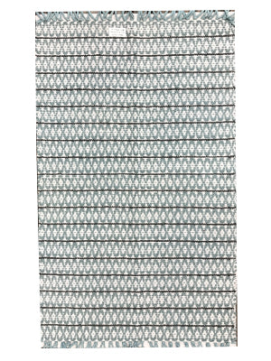 SMALL DIAMOND RUG-GREY
