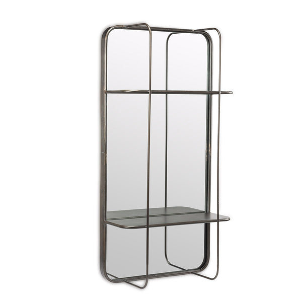RECTANGLE MIRROR W\ SHELF
