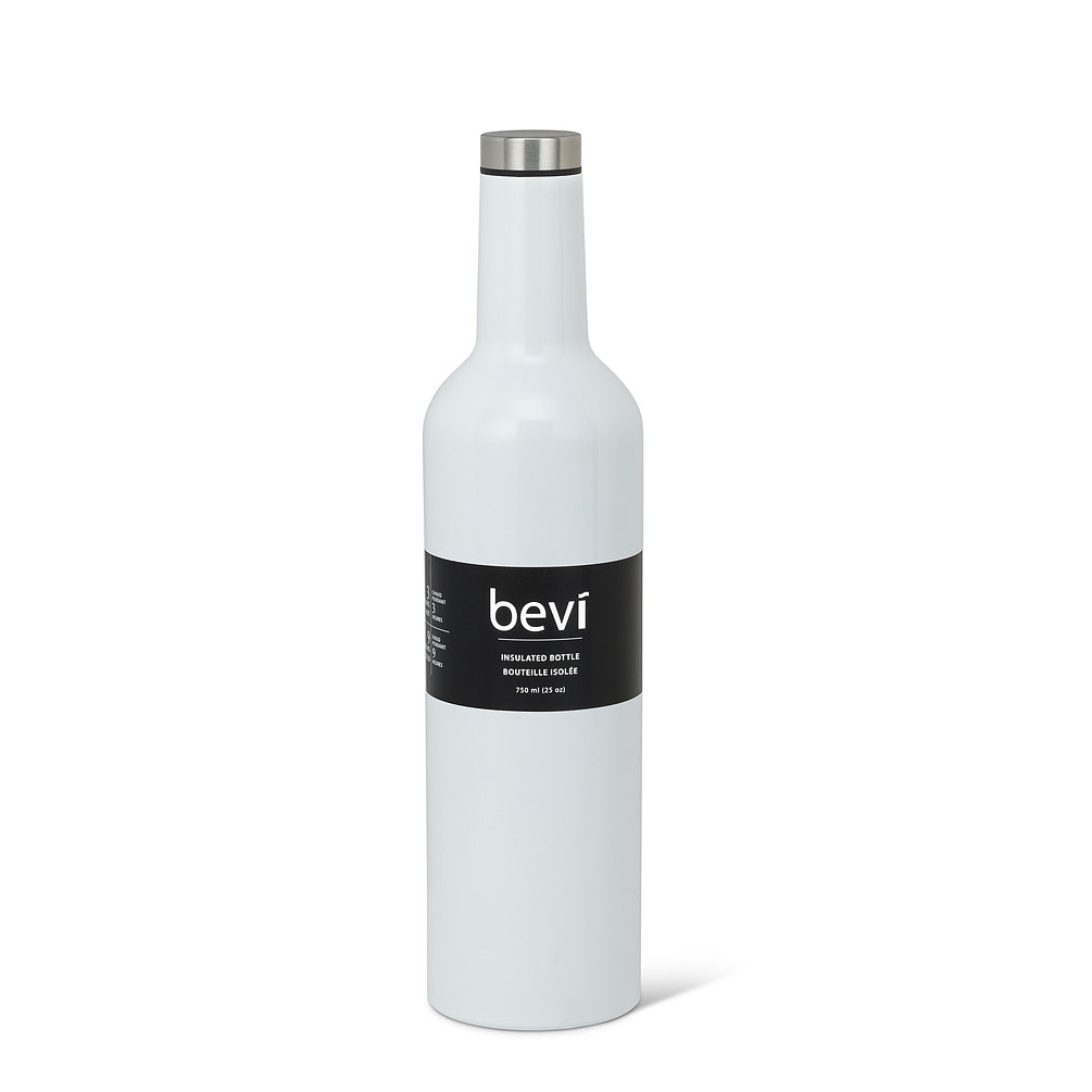 insulated bottle glossy white