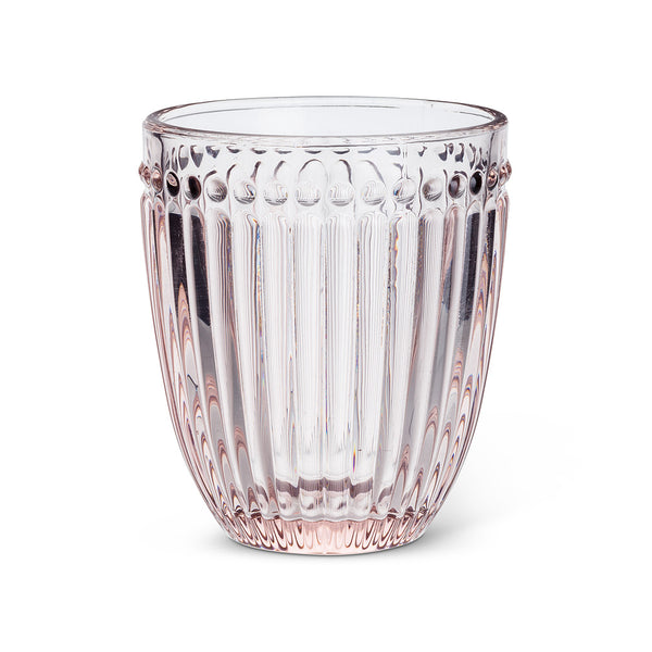 DOT & PANEL PINK GLASSWARE