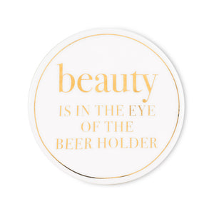 BEAUTY IN BEER COASTER