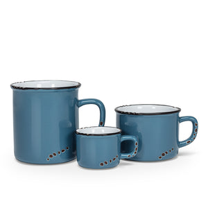 ENAMEL LOOK MUG COLLECTION DENIM